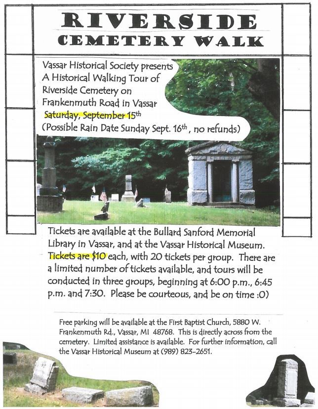 Cemetery Walk Flyer